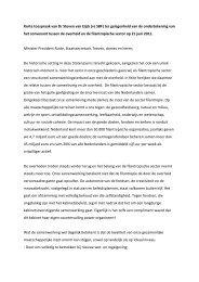 Korte toespraak van Dr Steven van Eijck (vz SBF) ter gelegenheid ...