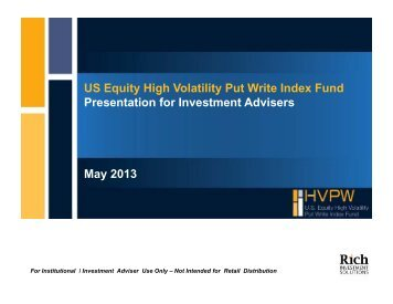 HVPW - Institutional and Investment Adviser Use Only Presentation - May 2013