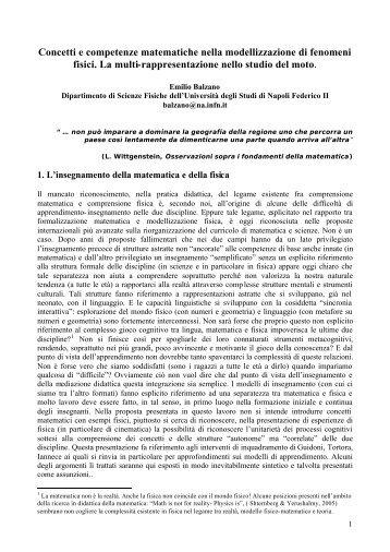 Balzano (F) - Seminario Nazionale di Ricerca in Didattica della ...