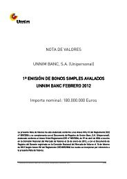 NOTA DE VALORES UNNIM BANC, S.A. ... - BME Renta Fija