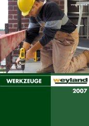 WERKZEUGE 2007 - Weyland GmbH