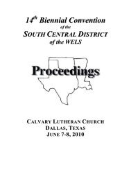 14th Bienniel Convention Proceedings - The South Central District
