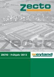 ZECTO - Frühjahr 2012 - Weyland GmbH