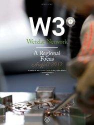 Wetzlar Network A Regional Focus August 2012