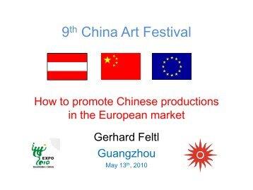Überlegungen zum Referat in China - Gerhard Feltl