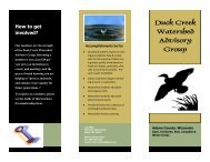 Duck Creek Watershed Advisory Group - Adams County