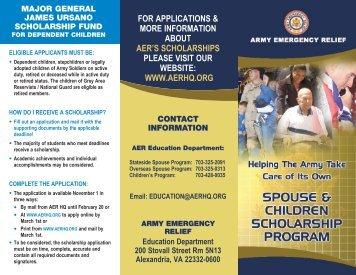 AER Spouse and Children Scholarship Program