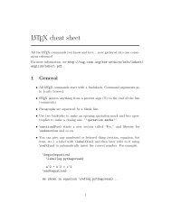 LATEX 2ε Cheat Sheet