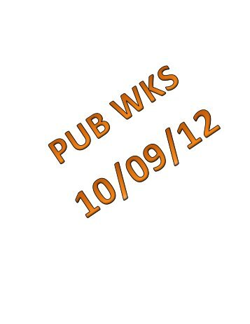 10/09/12 Mauston Public Works Committee Agenda Packet