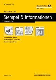 Ausgabe 19 - 2011 | 16. September 2011 - Deutsche Post - Philatelie