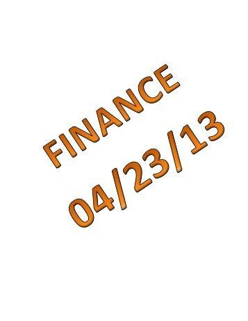 04/23/13 Mauston Finance Committee Agenda Packet