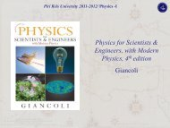 Physics for Scientists & Engineers, with Modern Physics, 4th edition ...