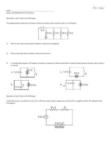 parallel and series circuits worksheet - bagru.info