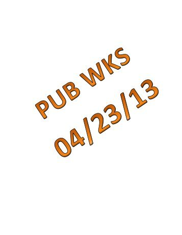 04/23/13 Mauston Public Works Committee Agenda Packet