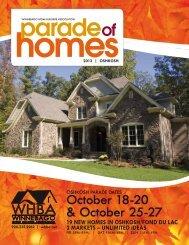 2013 Fall Parade of Homes information - Winnebago Home Builders ...