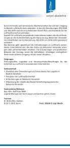 Luftfrachtsicherheit - Neue Anforderungen für ... - weyer gruppe - Page 2