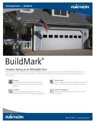 Download BuildMark Brochure PDF file - Raynor Garage Doors