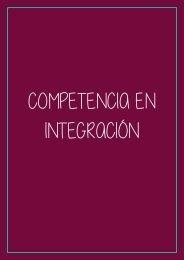 COMPETENCIA EN INTEGRACIÓN