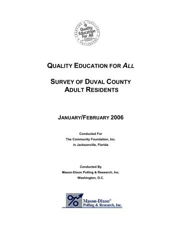 2006 Quality Education for All Survey Results - The Community ...