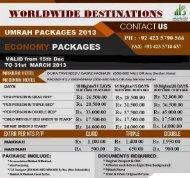 Umrah Packages 2013 - Phonebook.com.pk