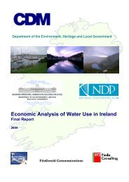 Economic Analysis of Water Use in Ireland – Final - Water Matters