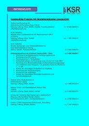 Referenzliste - Ksr Ingenieure