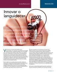 Innovar o languidecer - Coparmex