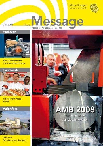 Message Ausgabe 2/2008 - Messe Stuttgart