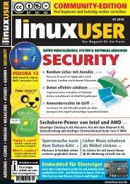 Ausgabe 07/2010 jetzt herunterladen - Linux User