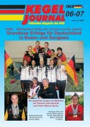 Grandiose Erfolge für Deutschland in Bozen und Sarajewo