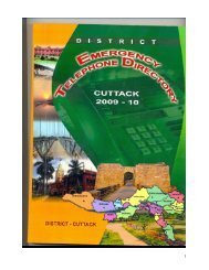 DISTRICT EMERGENCY TELEPHONE DIRECTORY - Cuttack