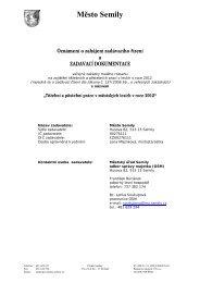 Oznámení o zakázce - Dokumentace (09/01/2012, pdf ... - Semily