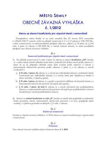 obecne-zavazna-vyhlaska-c-1-2012 - Semily