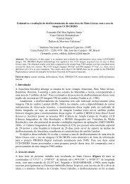 Estimativa e avaliação do desflorestamento de uma ... - OBT - Inpe