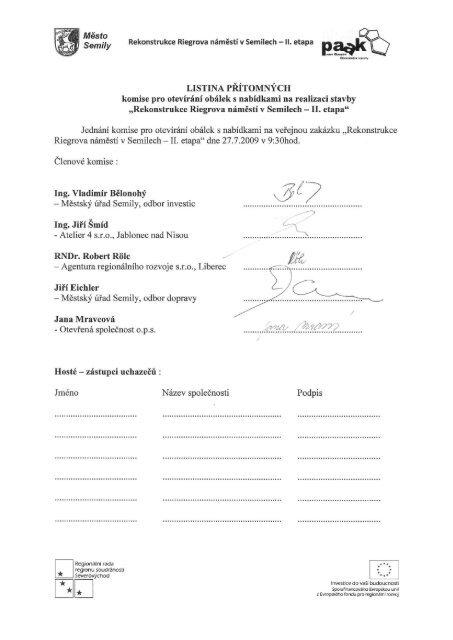Příloha protokolu - Semily