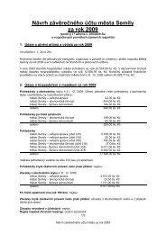 Návrh závěrečného účtu včetně příloh 1 - Semily