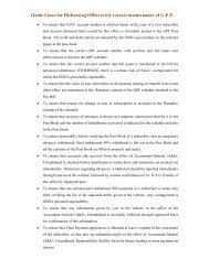 Guidelines for DDO - ACCOUNTANTS GENERAL Uttarakhand