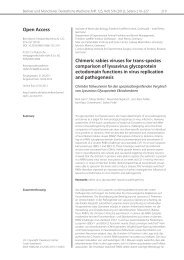 Open Access Chimeric rabies viruses for trans-species ... - Vetline