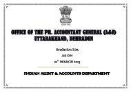 Gradation list of PAG(A&E) - ACCOUNTANTS GENERAL Uttarakhand