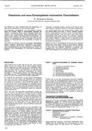 Klassische und neue Einsatzgebiete technischer ... - Lenzing