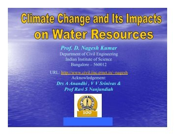 Prof. D. Nagesh Kumar - KSCST - Iisc.ernet.in