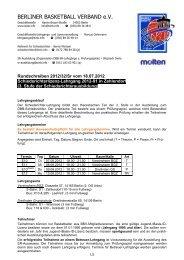 Rundschreiben - BSC Basketball