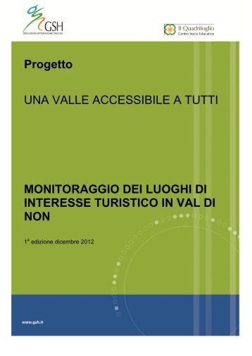 Scarica la brochure TURISMO ACCESSIBILE A TUTTI - Val di Non