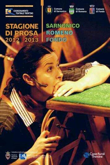 Libretto stagione teatrale 2012 - 2013 - Comune di Sarnonico