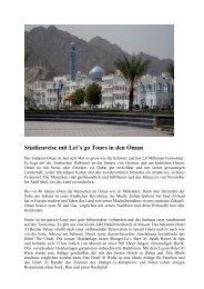 Studienreise mit Let's go Tours in den Oman