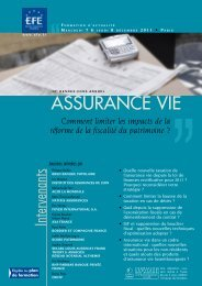 AssurAnce vie - Editions - Efe
