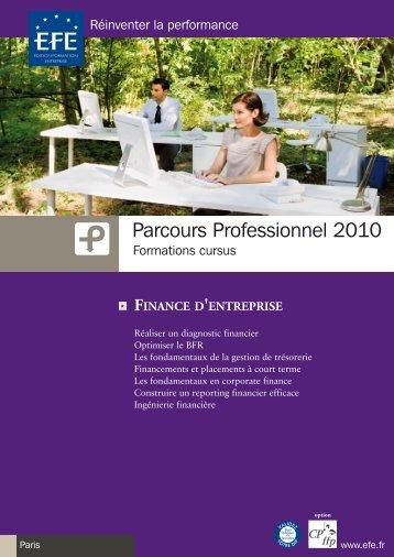 Parcours Professionnel 2010 - Efe