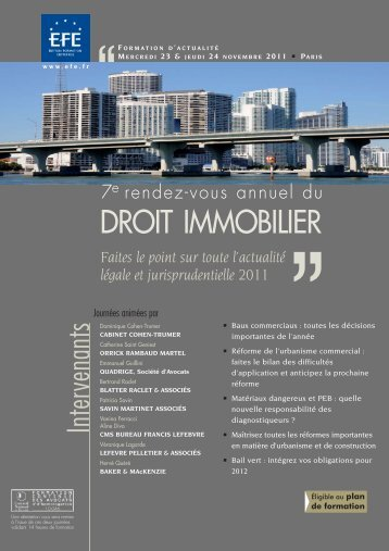 DROIT IMMOBILIER - Editions - Efe