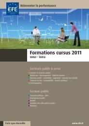 Formations cursus 2011 - Efe
