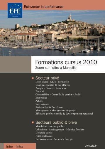 Formations cursus 2010 - Efe